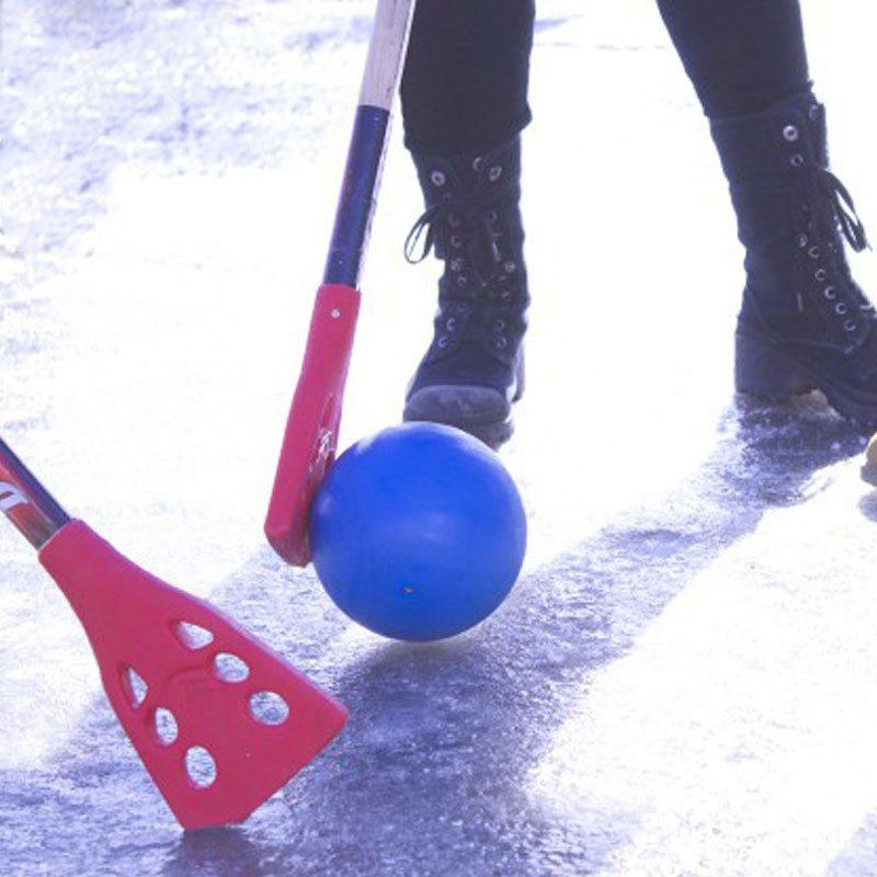 Ballon sur glace
