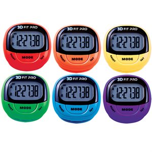 Set of 6 colored pedometers