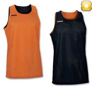 Camisole réversible, gr. G, noir / orange