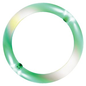 Anneau de jonglerie lumineux en polyéthylène.