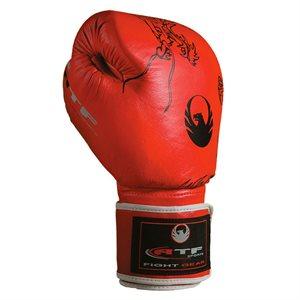 Paire de gants de boxe en cuir rouge