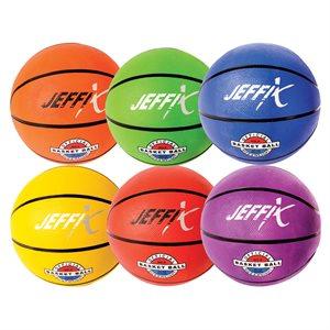 6 ballons de basketball en caoutchouc