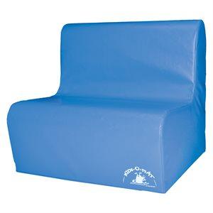 Sofa en mousse 2 places pour enfants, bleu