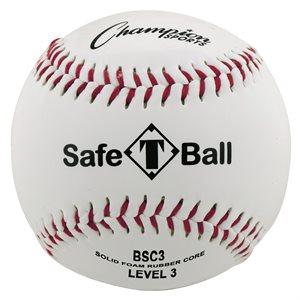 Balle de baseball en cuir synthétique