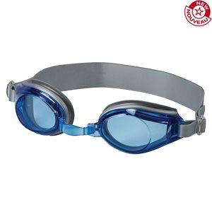 Lunettes de natation ajustables, bleu / argent
