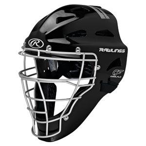 Casque / masque de receveur baseball SR, noir