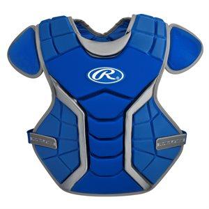 """Plastron de receveur baseball, 15"""", bleu royal"""