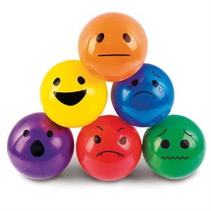 6 ballons souples avec visages