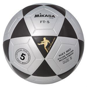 Ballon officiel de footvolley, #5, noir / argent