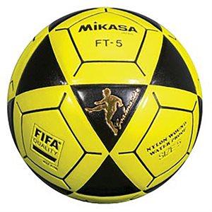 Ballon officiel de footvolley, #5, noir / jaune