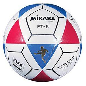 Ballon officiel de footvolley, #5, bleu / rouge