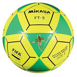 Ballon officiel de footvolley, #5, vert / jaune