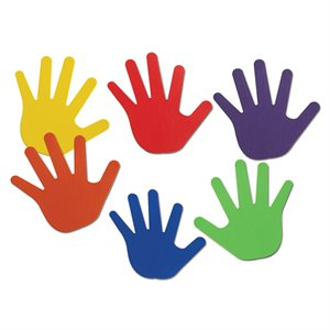 Ens. de 6 paires de marqueurs en forme de mains