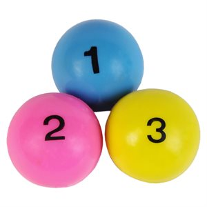 3 balles à jongler numérotées