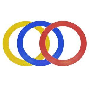 3 anneaux de jonglerie, 32 cm
