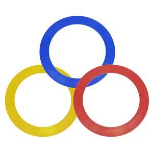 3 anneaux de jonglerie, 24 cm