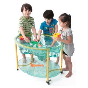 Table sur roue pour jeux d'eau et sable