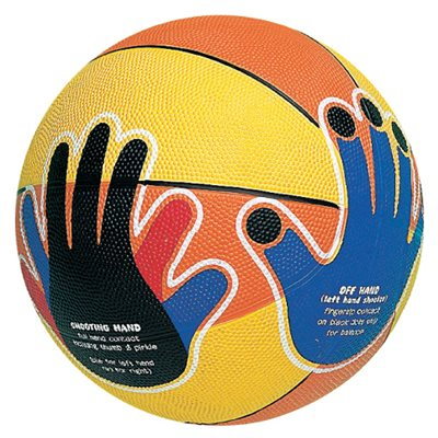Ballon de basketball junior en caoutchouc cellulaire