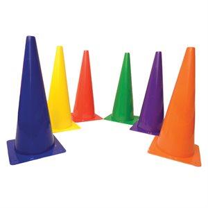 6 cônes en plastique rigide