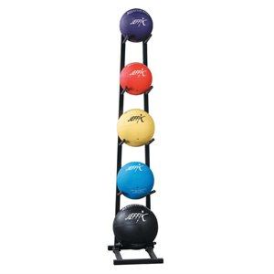 Ens. de 5 ballons médicinaux avec support