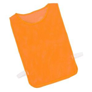 Dossard en filet avec élastiques, orange fluo