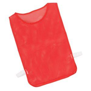 Dossard en filet avec élastiques, rouge