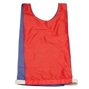 Dossard réversible en nylon, bleu / rouge