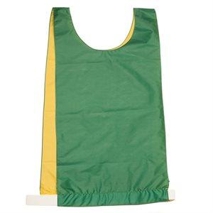 Dossard réversible en nylon, vert / jaune