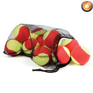 Ens. de 12 balles de mini-tennis surdimensionnées