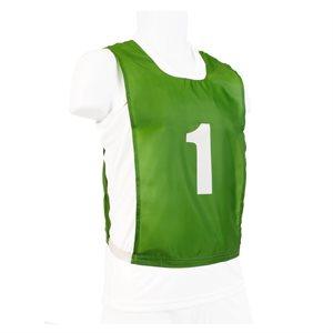 Ens. de 15 dossards numérotés, JR, verts