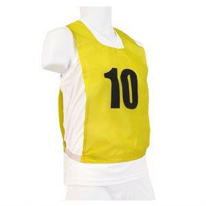 Ens. de 15 dossards numérotés, JR, jaunes