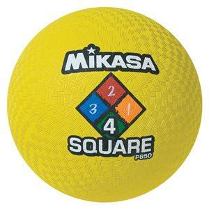 Ballon de jeu Four Square, jaune