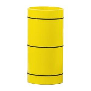 Rouleau 12,5 cm, bandes en caoutchouc jaune