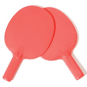 Paire de raquettes de tennis de table en plastique