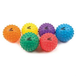 """Ens. de 6 ballons bosselés en PVC souple, 3"""""""