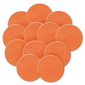 Ens. de 12 marqueurs en caoutchouc, orange