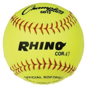 Balle de softball COR.47, jaune