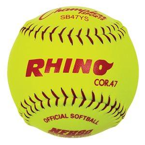 Ens. de 12 balles de softball synthétiques, 12''