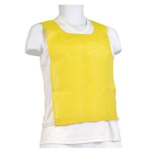 Dossard en coton, élastique et velcro, jaune