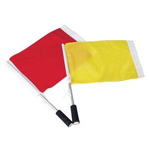 Drapeaux de juge de ligne soccer, jaune et rouge