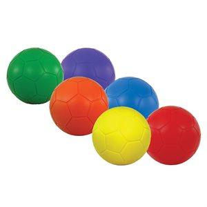 """6 ballons de soccer en mousse, 8"""""""