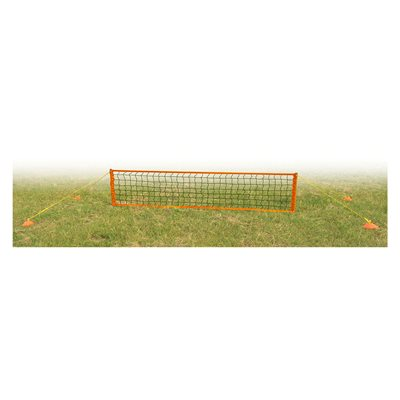 Portable soccer / tennis net and poles set