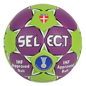 Ballon de handball Select Solera, mauve / vert, #3