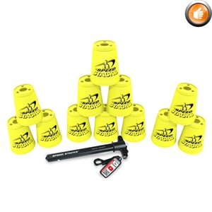 Ens. de 12 gobelets Speed Stacks, jaunes