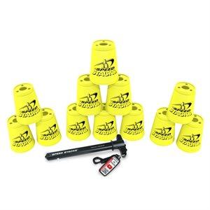 12 gobelets Speed Stacks, jaunes