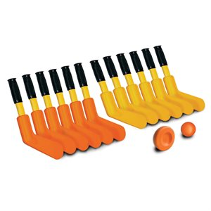 Ens. de 12 mini-bâtons de hockey Supersafe, 11""