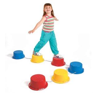 Parcours d'équilibre Step-a-Stone , 6 morceaux