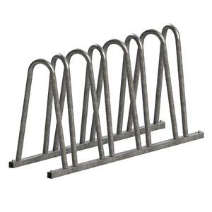 Support à vélo 7 places, acier galvanisé