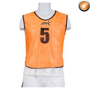 15 dossards numérotés, orange