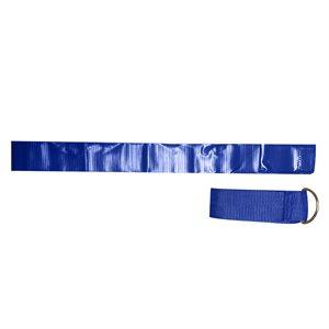 12 ceintures-fanions en nylon bleu